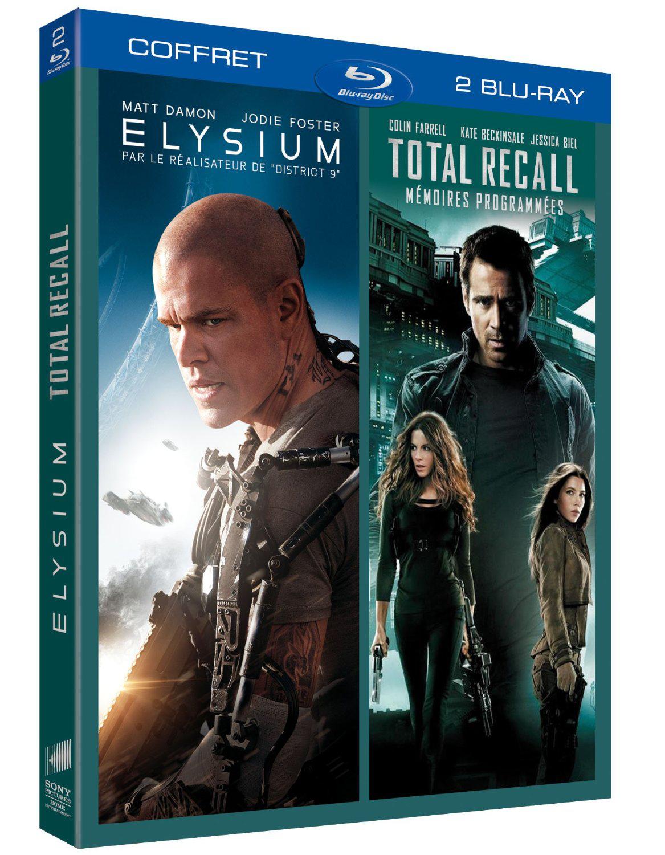 Coffret 2 Blu-ray : Elysium + Total Recall Mémoires programmées