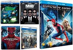 Coffret 5 Blu-ray 3D Action : The Amazing Spider-Man : Le destin d'un héros + The Amazing Spider-Man + Stalingrad + The Green Hornet + Men in Black 3