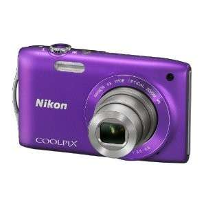 Appareil photo numérique Nikon Coolpix S3300 16 Mpix Zoom optique Nikkor 6x Violet avec code promo
