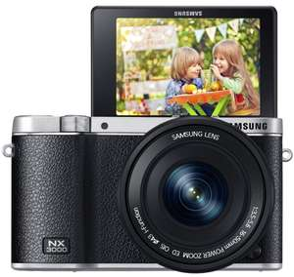 Appareil photo hybride Samsung NX3000 + Objectif 16-50 + Flash SEF-8A