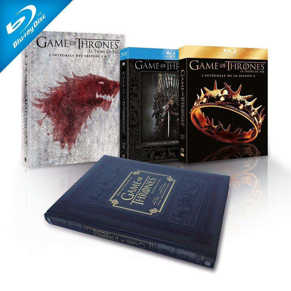 Coffret Blu-ray Game of Thrones - Intégrale 1 et 2 + le livre