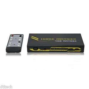 HDMI switch splitter 4X2 (Matrix) compatible v1.4