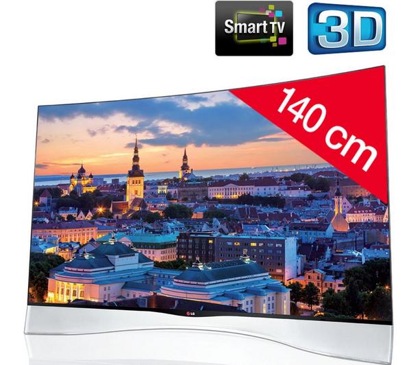 """TV 3D 55"""" - LG LG55EA970V - Smart TV, OLED Incurvé (500€ ODR)"""