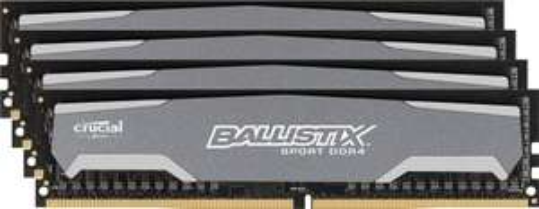 Mémoire RAM DDR4 - 32 Go  (4x8 Go) - Crucial Ballistix Sport 2400 MHz CL16