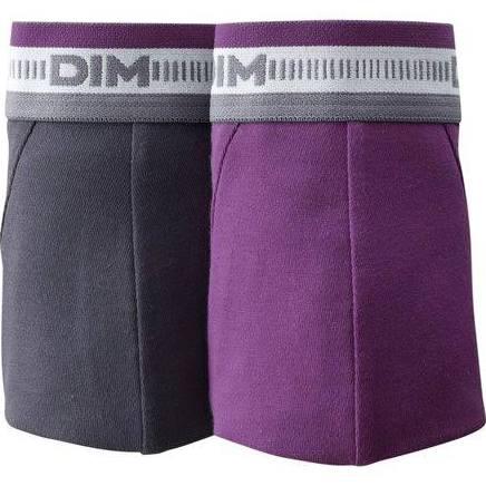 Lot de 8 caleçons Dim 3D Flex (par lots de 2) - Gris/Violet