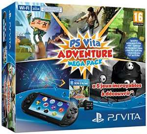 Console Playstation Vita 2000 + Voucher 5 Adventure Games Mega Pack + Carte Mémoire 8 Go