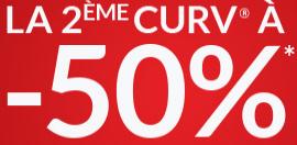 Pour l'achat d'une valise Samsonite Curv, la 2ème à -50%