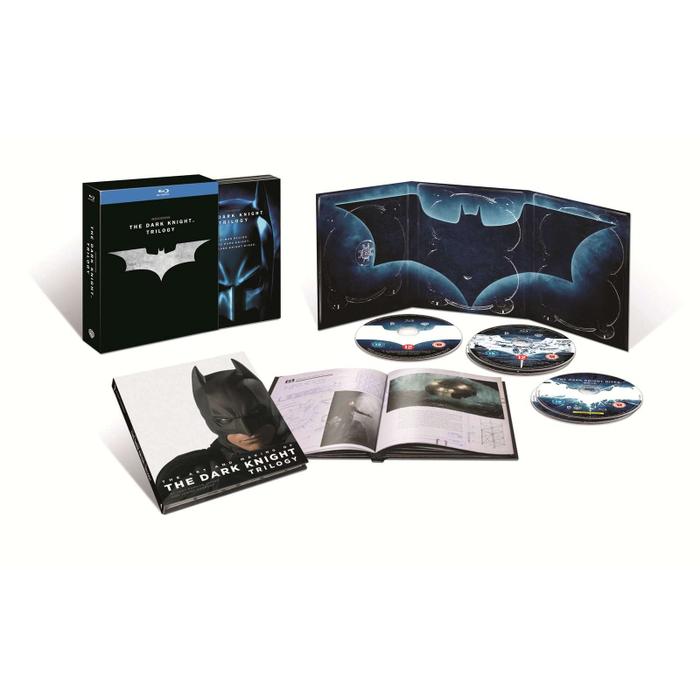 Coffret 5 Blu-ray The Dark Knight Trilogy + Livre
