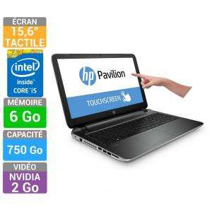 "PC Portable Tactile 15.6"" HP Pavilion 15-P048NF"