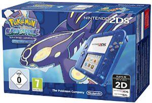 Précommande : Console Nintendo 2DS - Transparente bleu + Pokémon Saphir Alpha