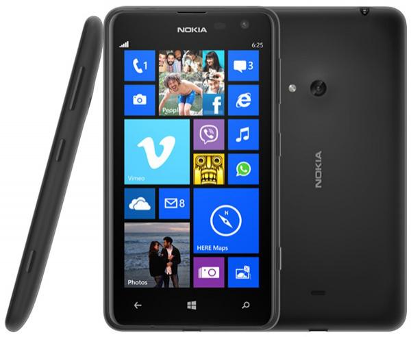 Smartphone Nokia Lumia 625 (50% crédités sur la carte fidélité)