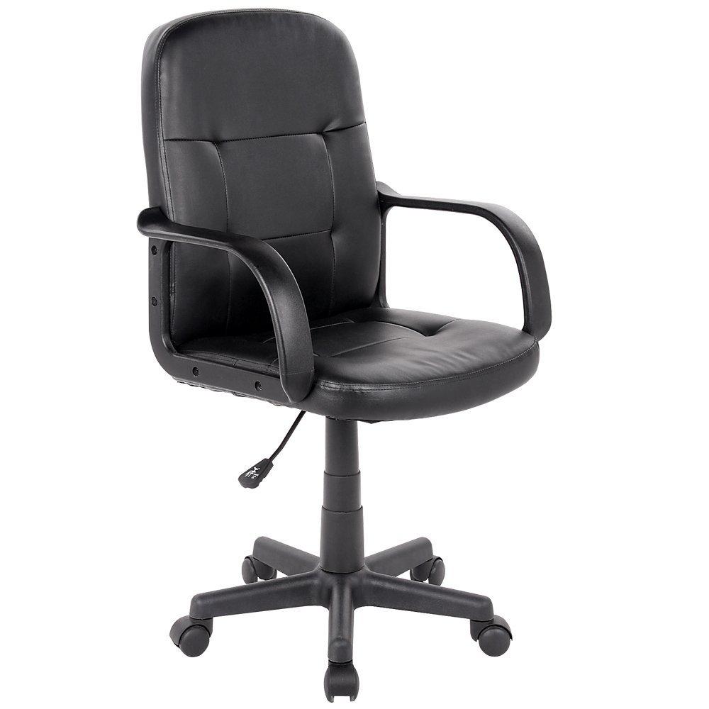 Siège de bureau (hauteur ajustable) - Noir