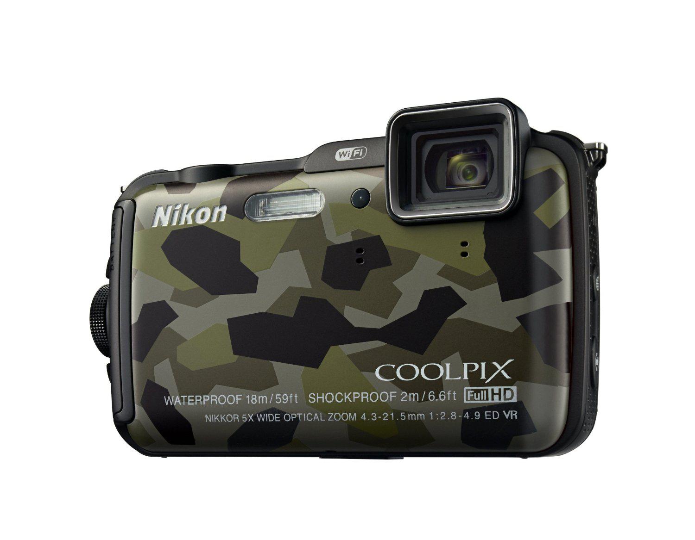Appareil photo étanche Nikon Coolpix AW120 16 Mpix Wi-Fi/GPS - Camouflage (Avec ODR de 30€)