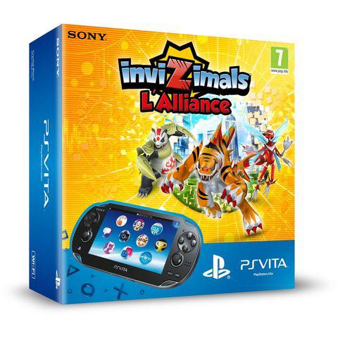 Console Sony PS Vita WiFi + jeu (dématérialisé) InviZimals : L'Alliance + Carte Mémoire 4 Go