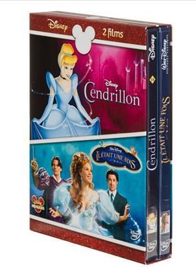 Bluray et DVD Disney en promo - Ex : Coffret  DVD :  Cendrillon + Il était une fois