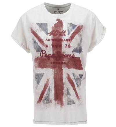 Jusqu'à 50% de réduction sur une sélection d'articles  Pepe Jeans - Ex : T-shirt Femme