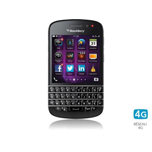 Smartphone Blackberry Q10 - Noir