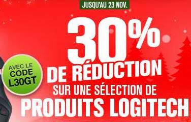 -30% sur une sélection de produits Logitech