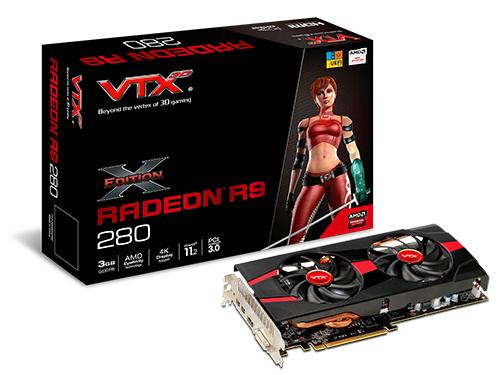 Carte graphique VTX3D Radeon R9 280 (VXR9 280 2DHXE) 3 Go + 3 jeux gratuits