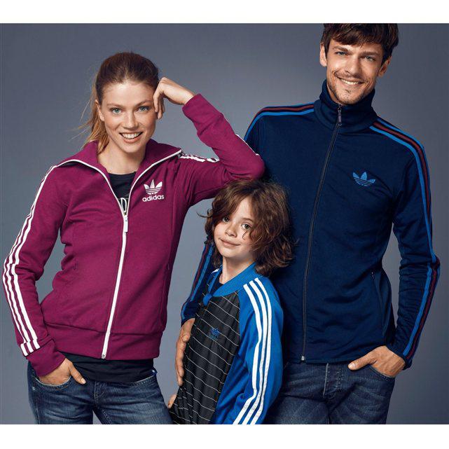 Veste zippée Adidas Rose pour Femme