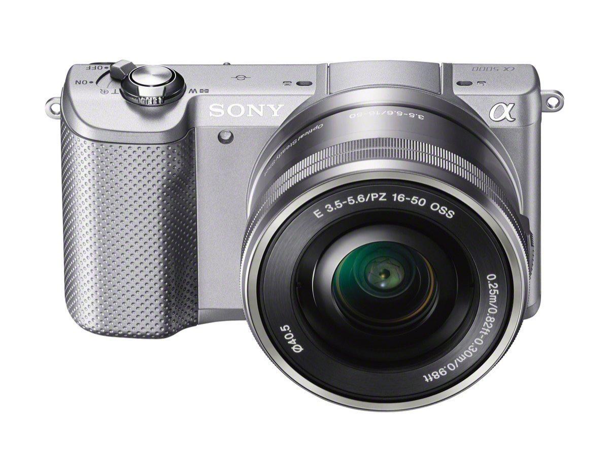 Appareil photo Sony A5000  + Objectif 16-50 mm rétractable - Argent