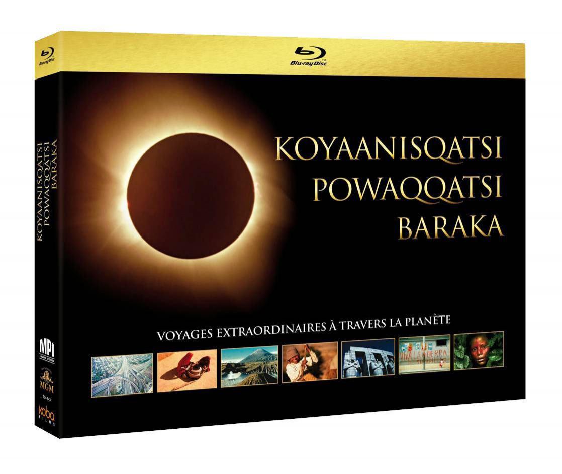 Coffret Blu-ray Trilogie écologique : Baraka + Koyaanisqatsi + Powaqqatsi