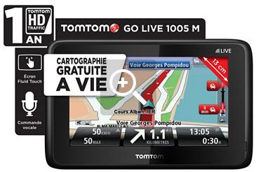 GPS TomTom Go Live 1005 M Europe 45 + Carte à vie + 1 an services Live