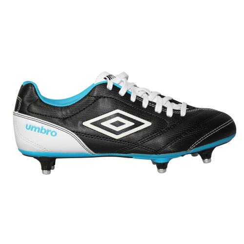 Chaussure football Umbro Turbine Visse - Noir/Blanc/Bleu