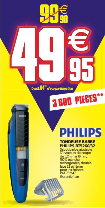 Tondeuse barbe Philips BT5260/32