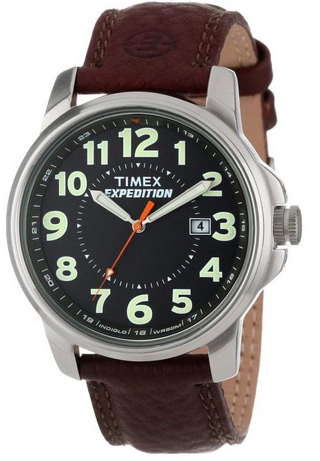 Montre Homme Timex - T44921PF - Quartz Analogique - Bracelet Cuir