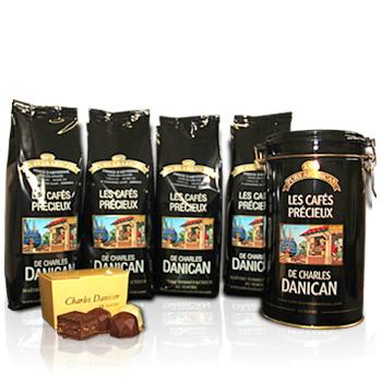 Packs de Café de torréfacteur Charles Danican (dosettes, grains, moulus)