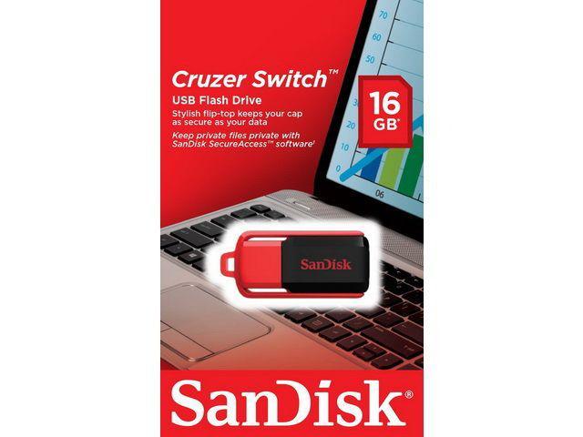 clé USB 2.0 sandisk cruzer - 16go - port gratuit