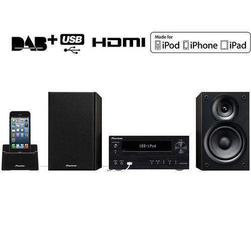 Chaine Hifi Pioneer X-HM31DAB-K - DAB/DAB+ compatible iPod/iPhone/iPad - 2 x 30W - HDMI - USB