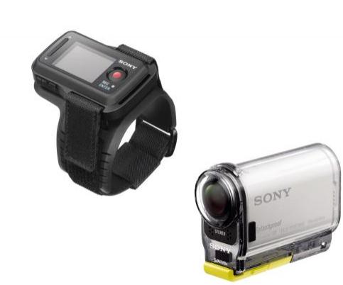 Caméra sportive Sony Action Cam HDR AS100 VR Blanc + Montre de contrôle