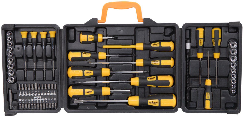 Jeu de tournevis  Rolson Tools 36820 avec mallette moulée par soufflage - 60 pièces