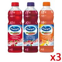 3 bouteilles Ocean Spray Cranberry 1L