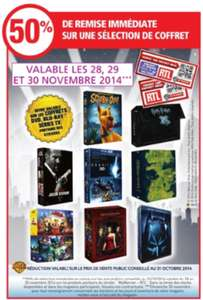 50% de réduction immediate sur une sélection de coffrets DVD/Bluray