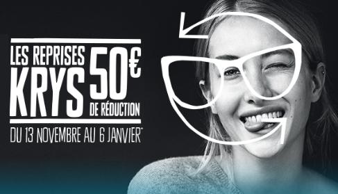 50€ de réduction en rapportant vos anciennes lunettes