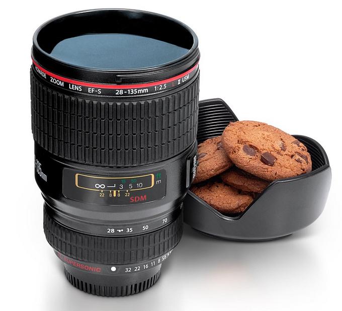Tasse / Mug en forme d'objectif pour appareil photo