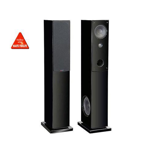 Paire Enceintes Colonnes 3 voies Advance Acoustic KUBIK-K5S-NOIR - Laqué Noir