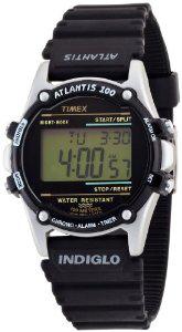 Montre Homme Timex Atlantis T77511 - Quartz Digital - Bracelet Résine Noir