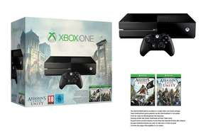 Pack console Xbox One + Assassin's Creed Unity + Assassin's Creed BF (60€ de bons utilisables dès 500€ d'achat)