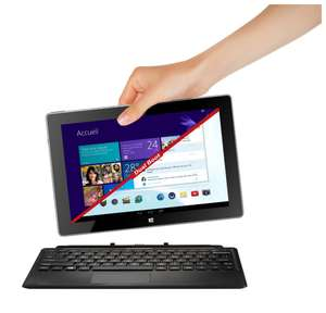 "Tablette 10.1"" Thomson THBK1-10.32 avec clavier - Argent (Intel Atom, 32 Go, Windows 8.1 + Android Jelly Bean 4.2.1, Microsoft Office inclus)"