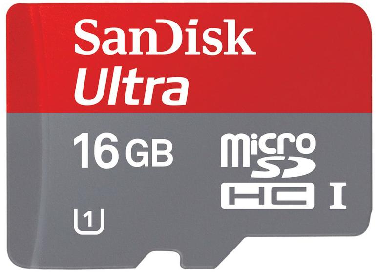 Carte mémoire Micro SD Sandisk Ultra - Classe 10 - 16Go