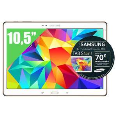 "Tablette Tactile 10.5"" Samsung Galaxy Tab S + (80€ en bon d'achat)"