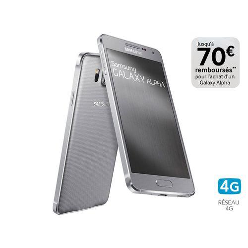"Smartphone 4,7"" Samsung Galaxy Alpha (avec ODR de 70€) + bon d'achat de 100€ (avec minimum d'achat)"