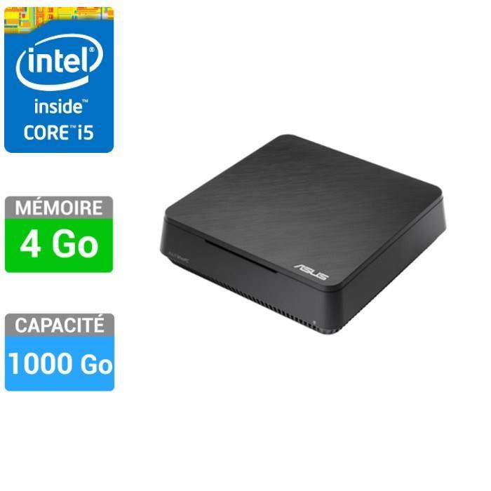 Mini PC Asus Vivo PC VC60 B013K (Intel Core i5-3210M-2,5 GHz - RAM 4Go - HD 1To - Intel HD Graphics 4000 - Windows 8)