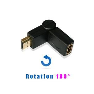 Adaptateur HDMI coudé flexible 180°