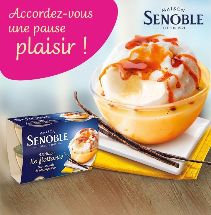Sélection de desserts Senoble via shopmium  (3 offres: coeurs fondants, moelleux au chocolat et iles flottantes)