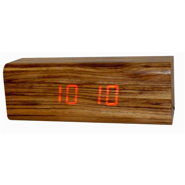 Réveil en bois à LED 220V (Livraison gratuite à partir de 25€)